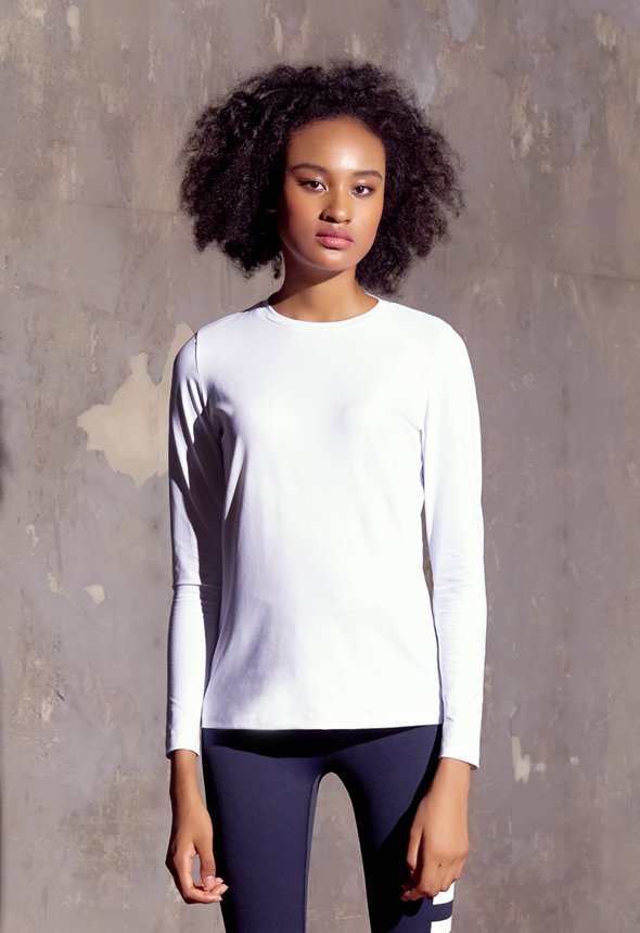 [80%SALE] [MPTL01_03WH] DRY RUNNING TOP
