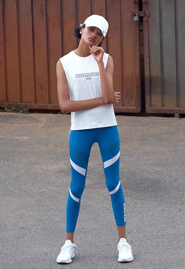[MSBL01_03TQ] COLOR BLOCK LEGGINGS
