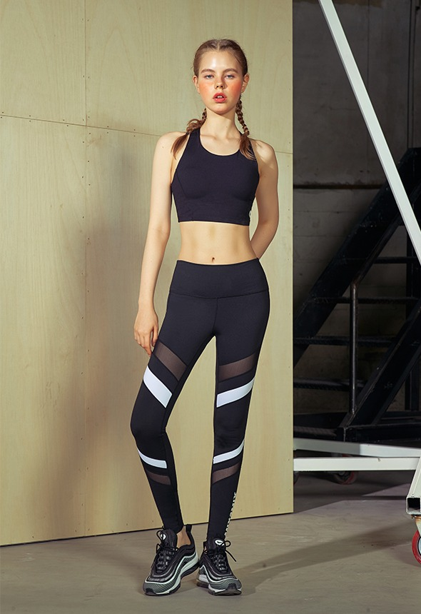 [MSBL01_03BK]  COLOR BLOCK LEGGINGS