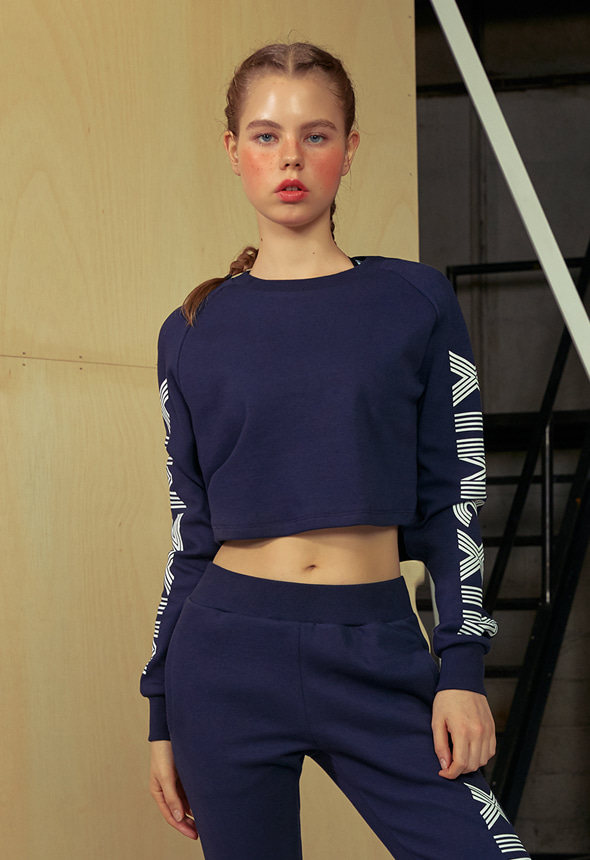 [MPTL01_01TN] CROP SWEAT SHIRT