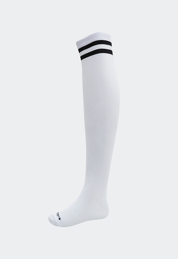 [MSAC01_12WH] OVER KNEE SOCKS
