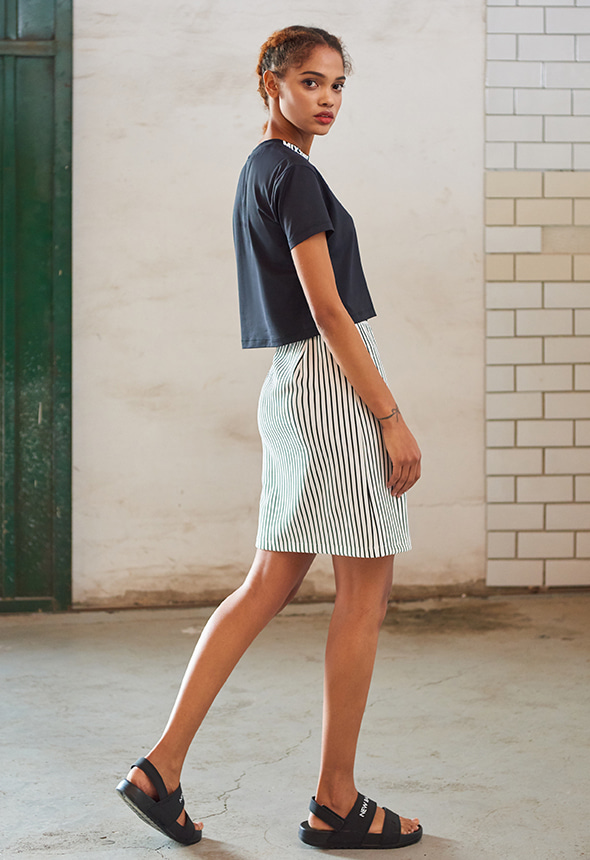 [70%단기세일] [MSBK01_02WH] STRIPE SKIRT